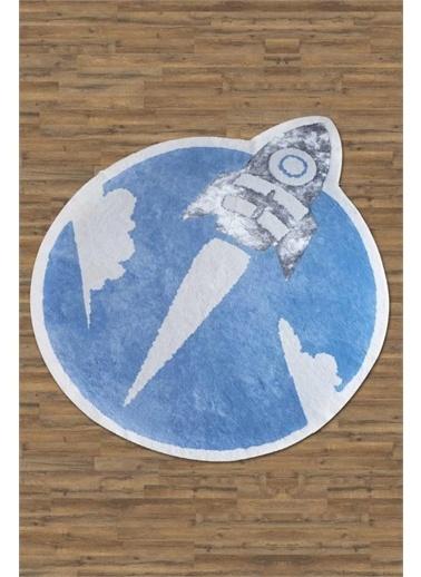 HC&W Kids Çocuk Halısı 160x160 cm - Sky Mavi Mavi